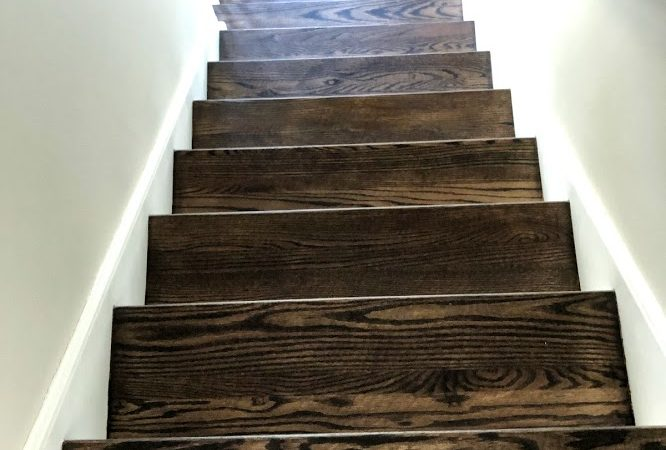 Stairs stain dark walnut